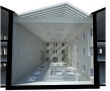Biblioteca de La Rioja propuesta para cubrir el patio